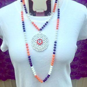 Houston Astros H Multi Crystal Medallion Necklace